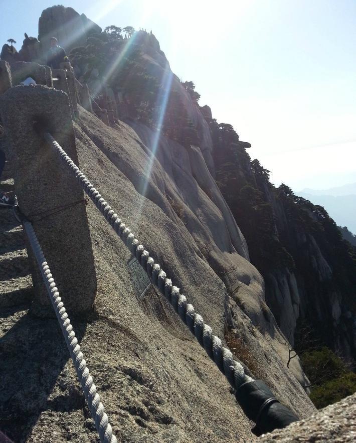 黄山风景区百步云梯