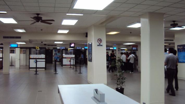 塞班机场入境处