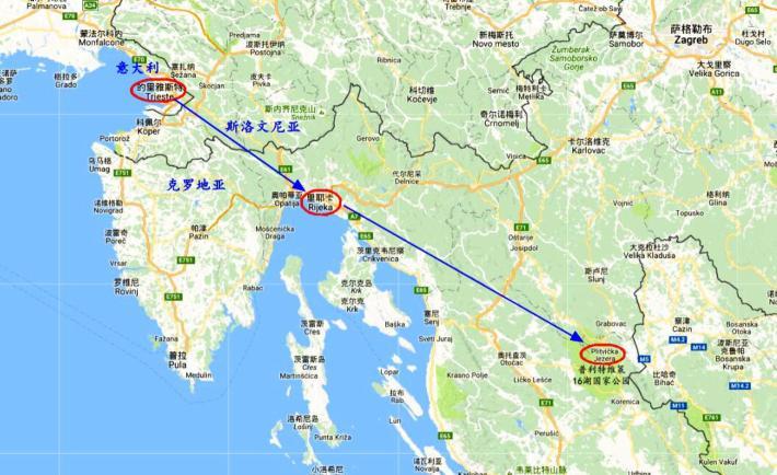 今日行程线路图(Google)