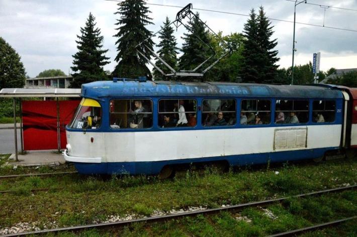 有年头的有轨电车仍在使用
