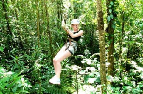 【当地玩乐】斐济 楠迪 丛林高空生态滑索.等待确认