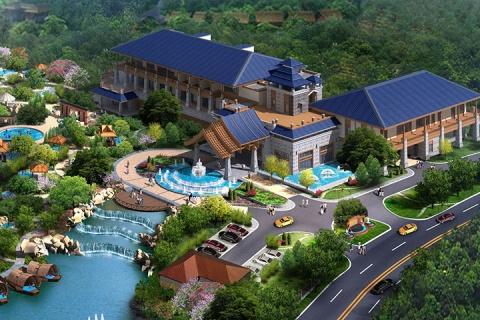 佛山美的鹭湖岭南花园酒店 鹭湖半山温泉双人门票
