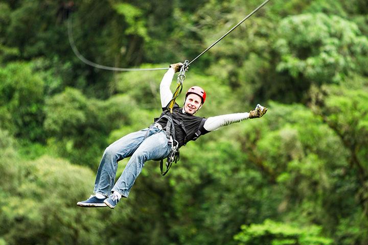 【当地玩乐】泰国普吉1天*丛林飞跃hanuman world 16站+过山车+餐+接送