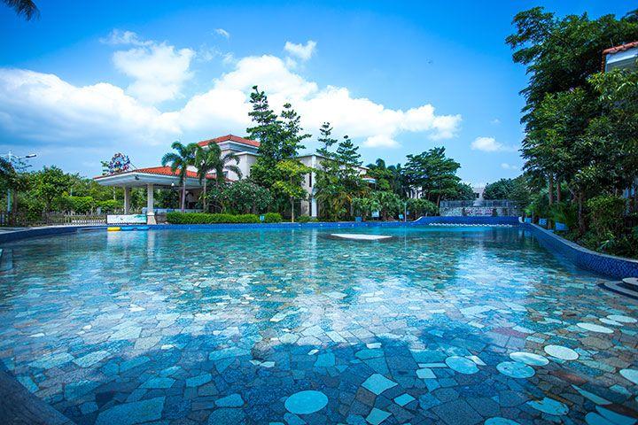 恩平山泉湾温泉酒店-东区池畔亲水双床【不带池】(零距离接触亲水温泉泳道)